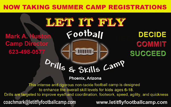 2015 Let It Fly Football Drills & Skills Camp
